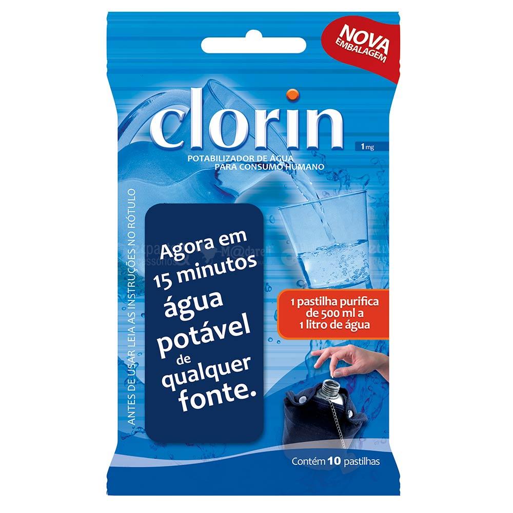 Pastilhas Purificadoras Água Potável em 15 Minutos - Clorin