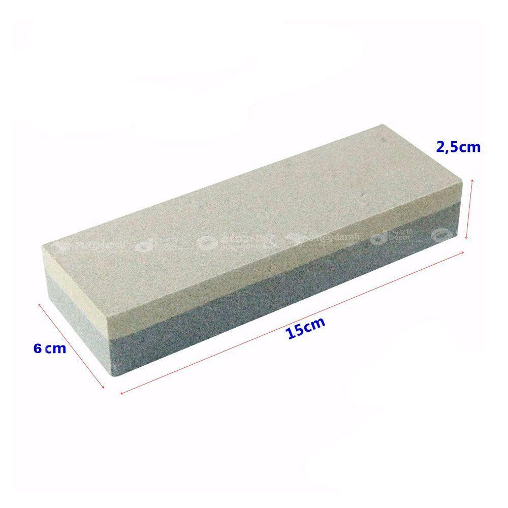 "Pedra de Afiar Amolar Retangular 2 Faces 150mm/6"" - Thompson"