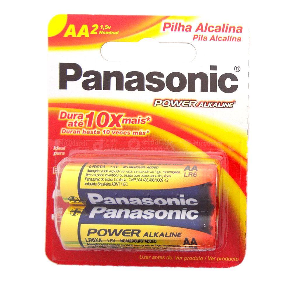 Pilha Alcalina Pequena AA 2 Unidades - Panasonic