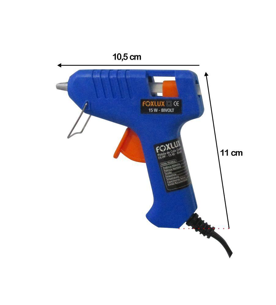 Pistola Aplicador para Cola Quente 15W Bivolt - Foxlux