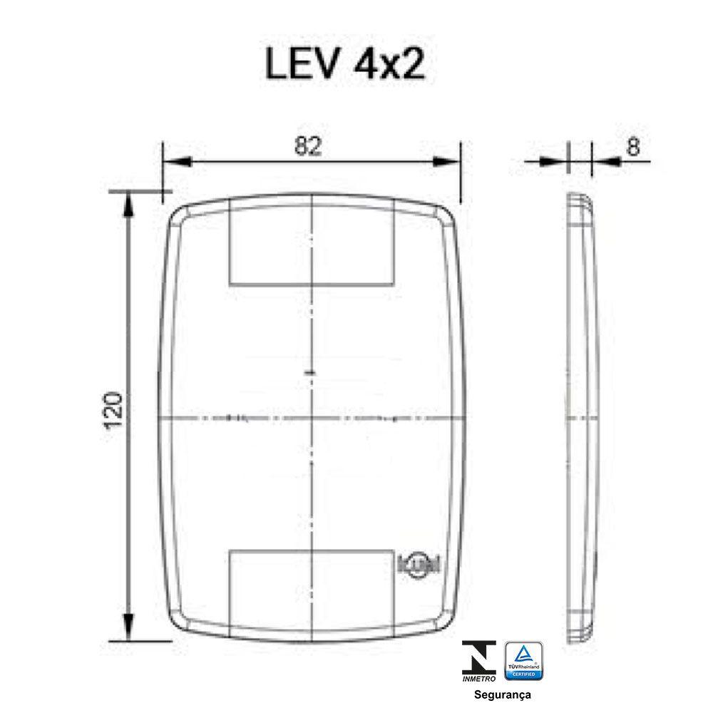 Placa Cega 4X2 Modulo Ilumi Lev Modular