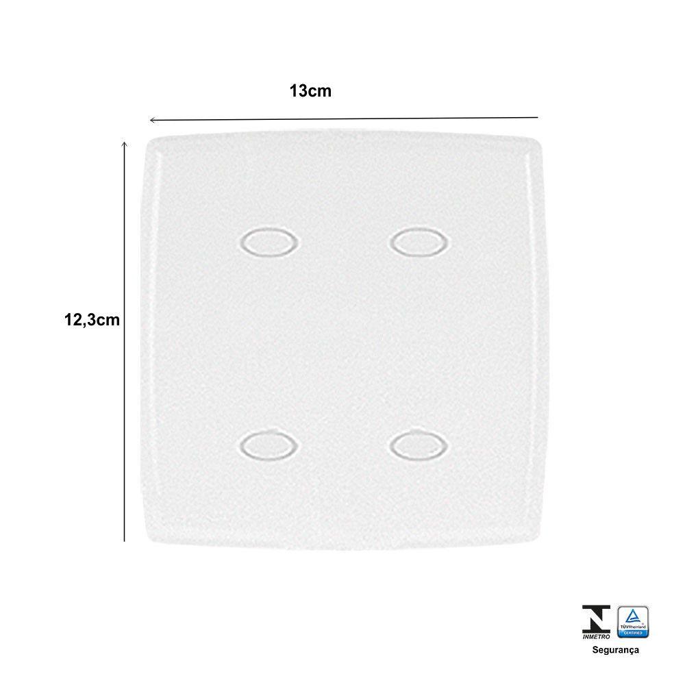 Placa Cega 4x4 Safira - Ilumi