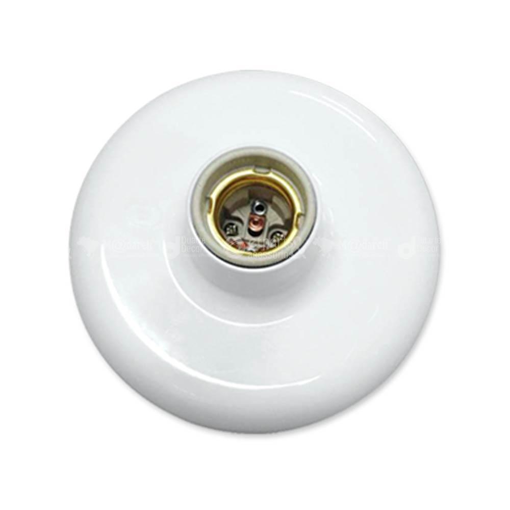 Plafonier Branco 100W com Receptáculo Importado - Ilumi