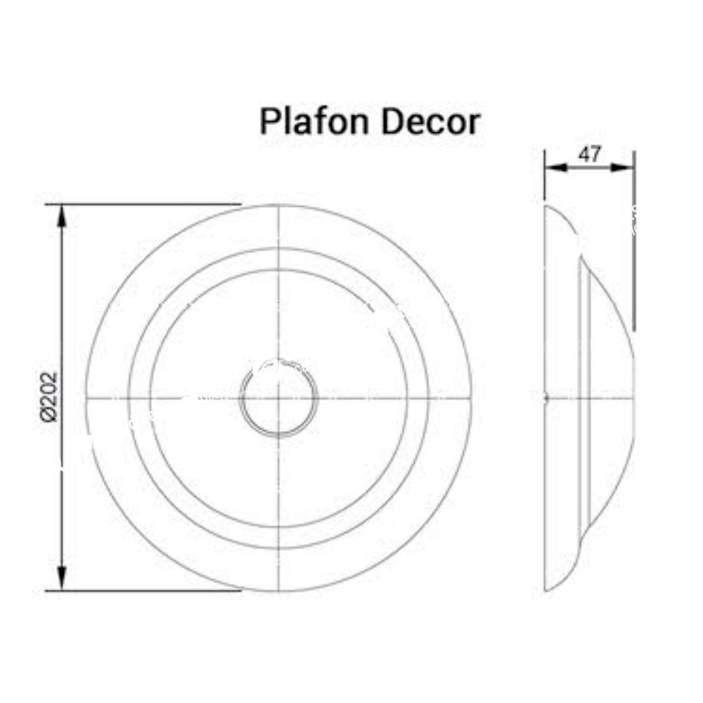 Plafonier Decor 100W Branco - Ilumi