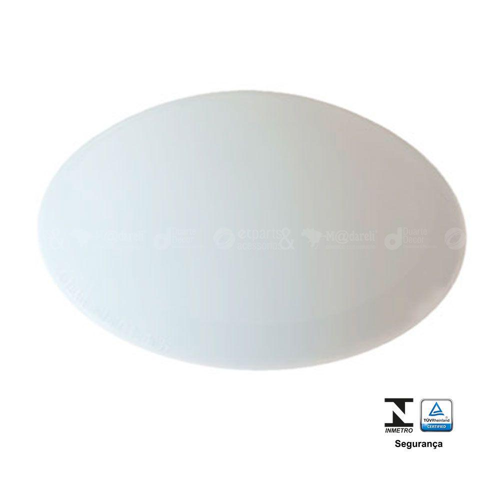 Plafonier Redondo 1 Lâmpada 25W Branco Prestige Ilumi