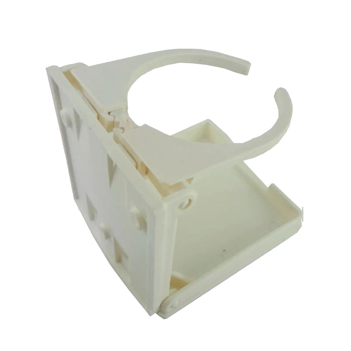 Porta Copos Dobrável Para Embarcações Branco Em Pvc Quadrado