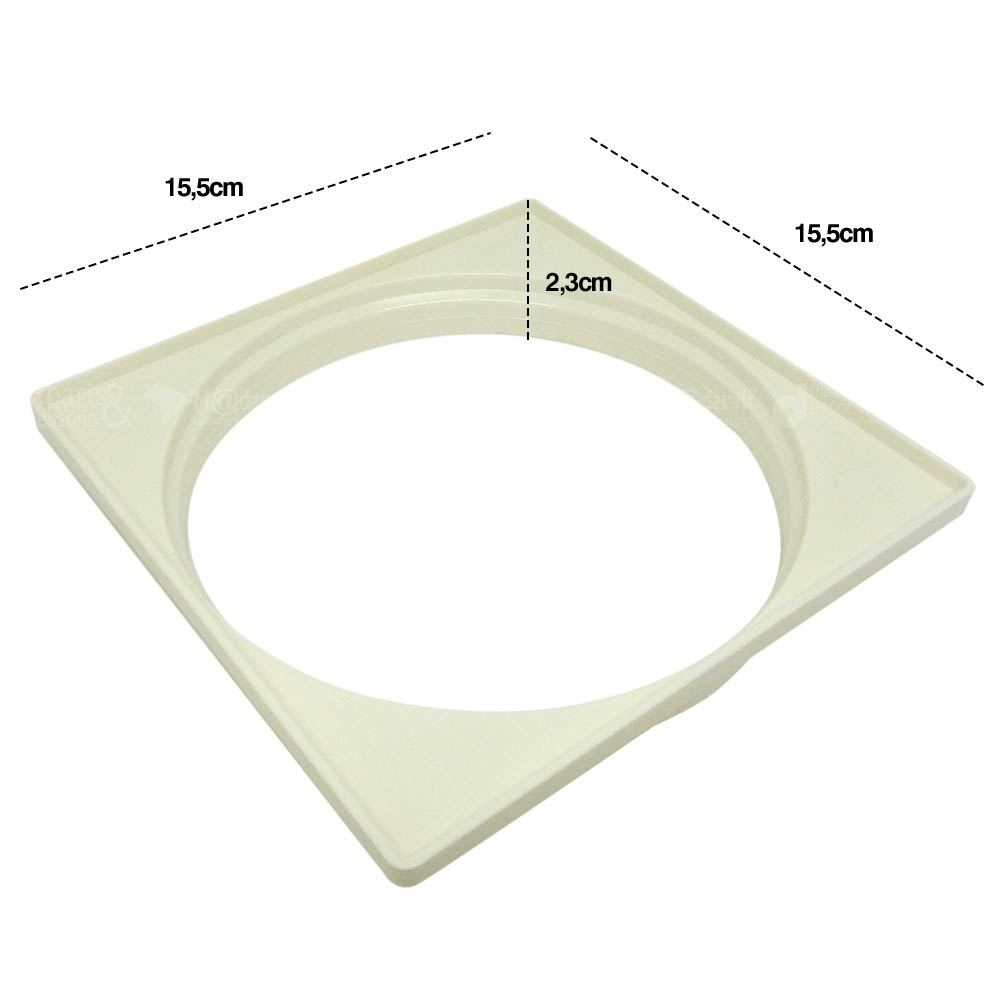 Porta Grelha Quadrado Branco NR61 DN150 - Krona