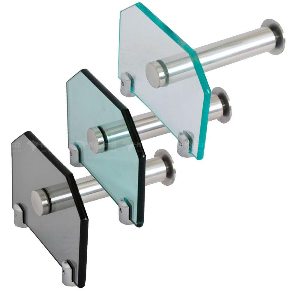 Porta Papel Higiênico em Vidro 10mm - Vildrex