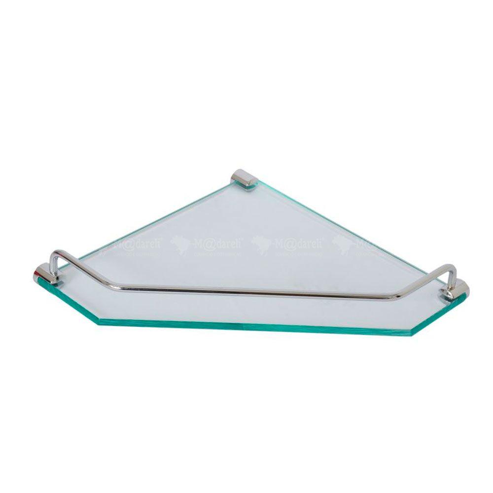 Porta Shampoo de Canto em vidro 10mm - Vildrex