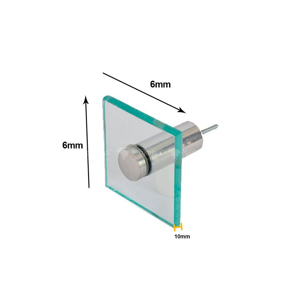 Porta Toalha de Rosto em Vidro 8mm Vildrex
