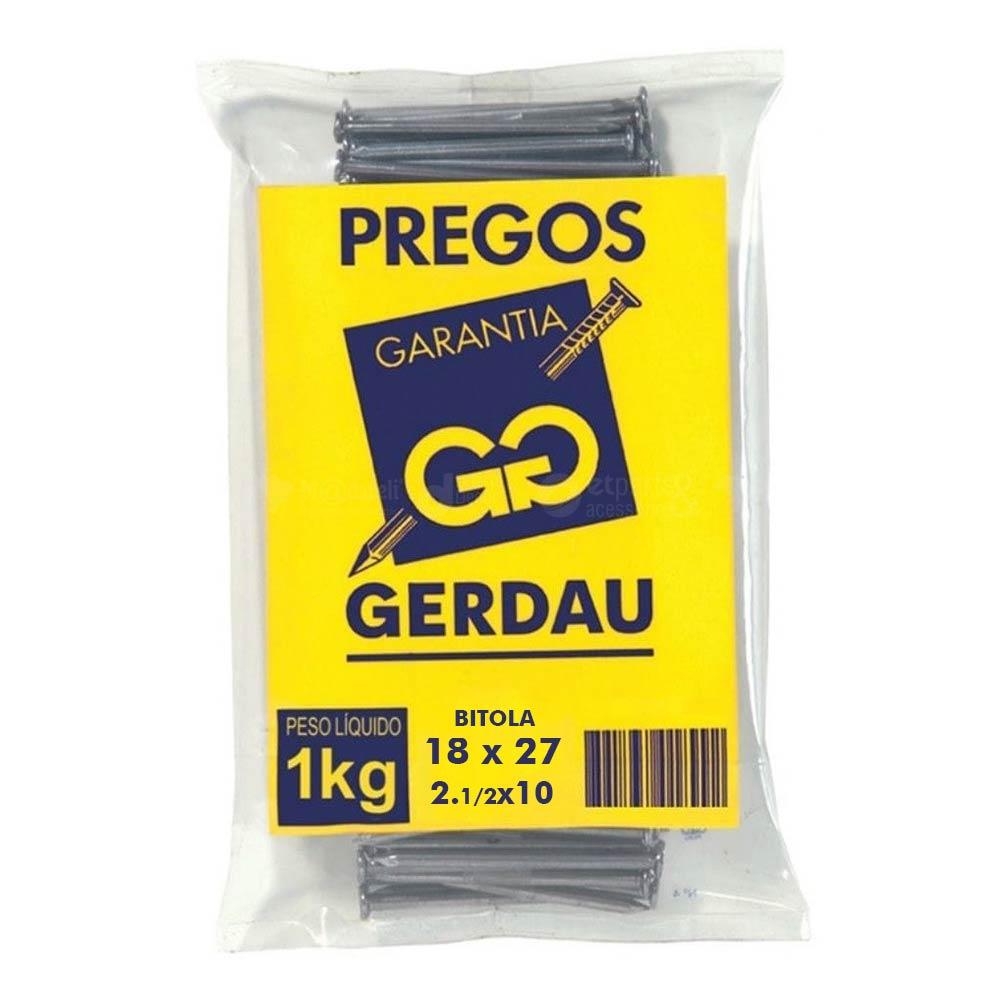 Prego 18x27 1.1/2x10 Com Cabeça 1kg - Gerdau