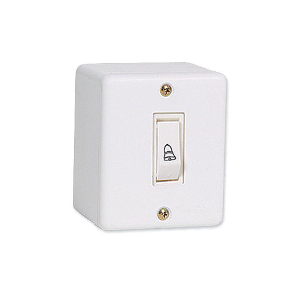 Interruptor para Campainha Pulsador de sobrepor 6A Com placa 4x2 - Ilumi