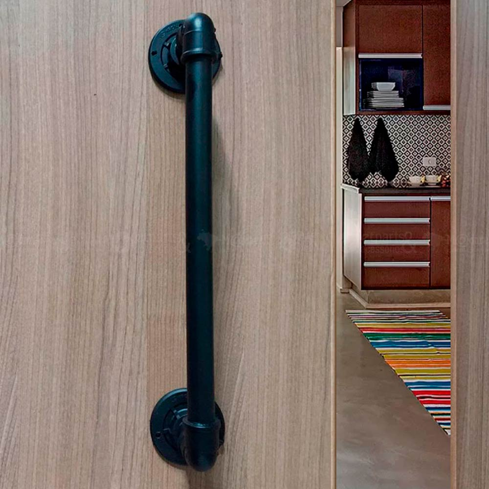 Puxador de Porta Tubular em PVC 1/2 x 35 cm kit c/ 2 unid - Madareli
