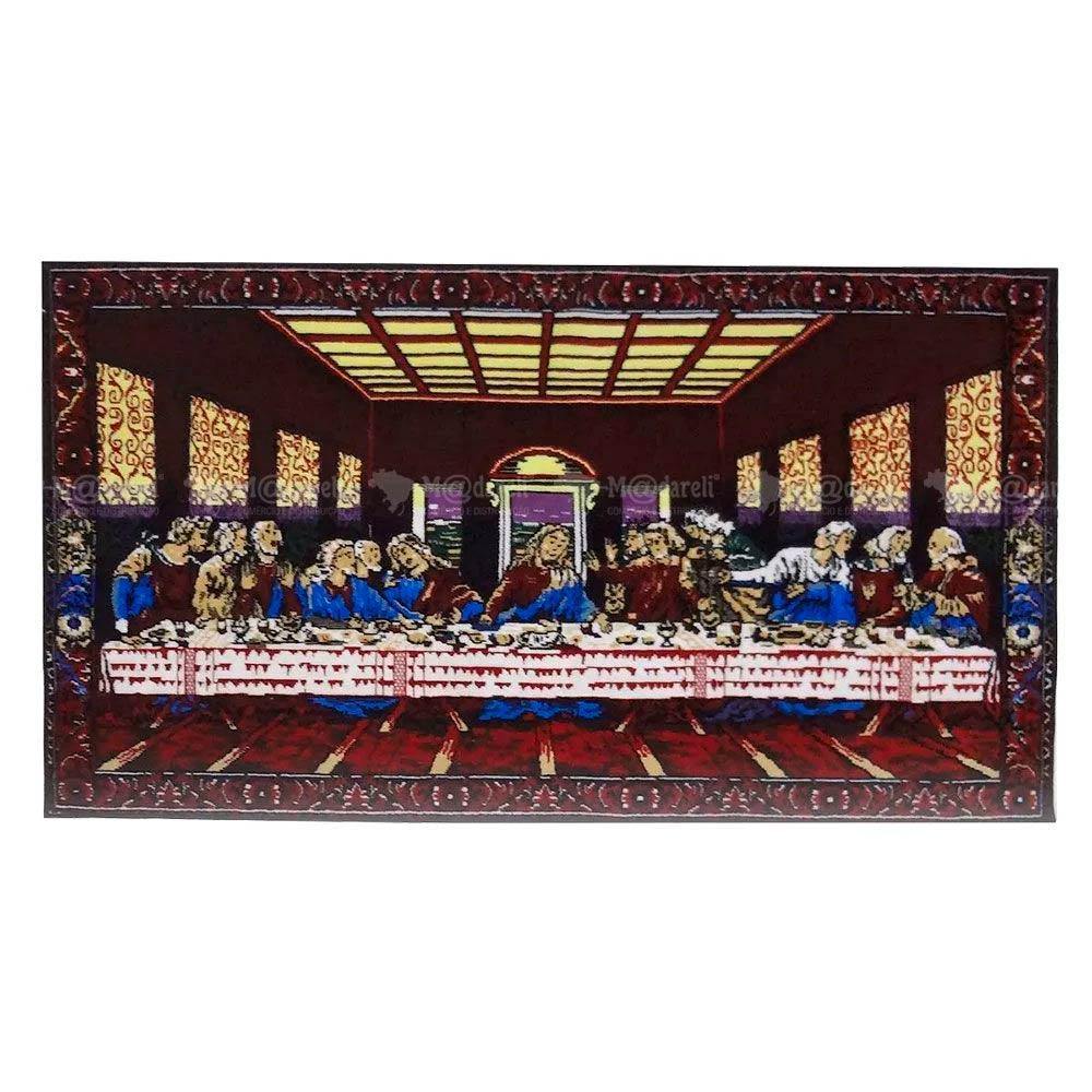 Quadro Tapete de Veludo Santa Ceia 50x100 cm