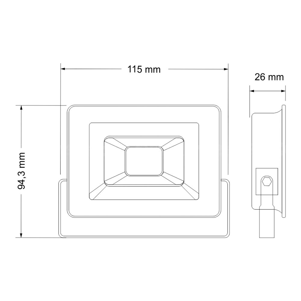 Refletor Led SMD Holofote 10w Bivolt 6500k Branco Frio