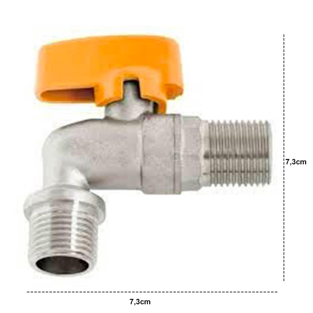 Registro Esfera Curvo para Gás 1/2 x 1/2 - Censi