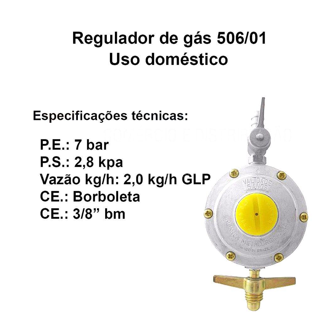 Registro Regulador de Gás 506/01 - Uso Doméstico - Aliança