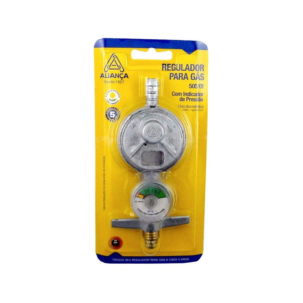 Registro Regulador de Gás com Manômetro 505/01 Aliança