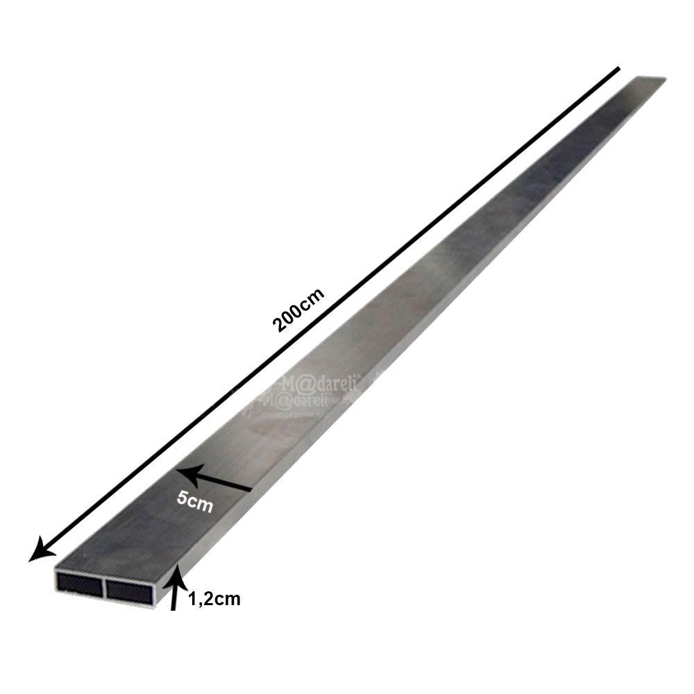 Régua de Pedreiro em Alumínio Bipartida Reforçada - 2 metros