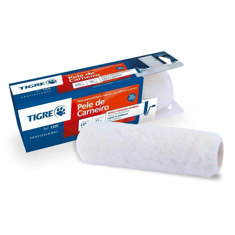 Rolo de Lã de Carneiro 1320 23cm x 22mm - Tigre