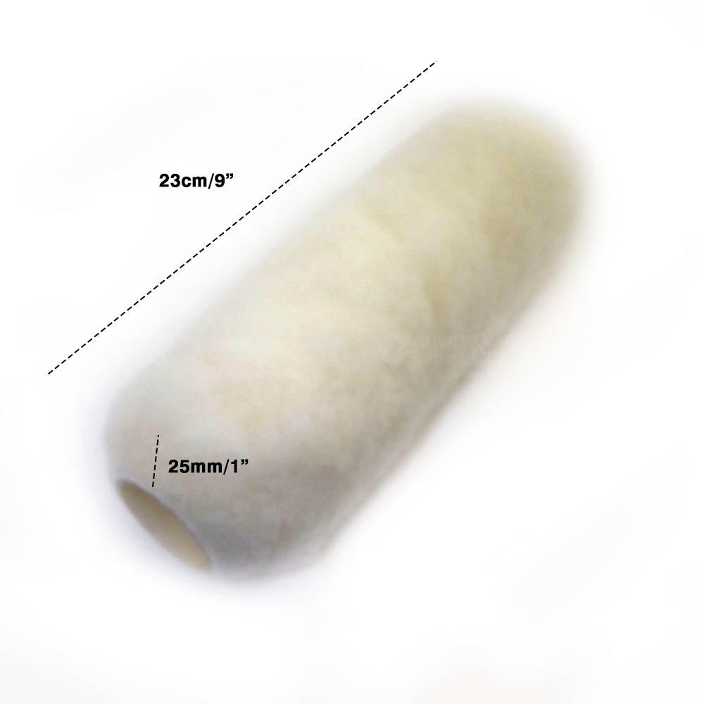 Rolo de Lã de Carneiro e Poliéster 23cm x 25mm s/ Cabo - Roma