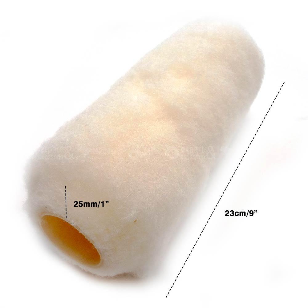 Rolo de Lã de Carneiro Premium 23cm Alto 25mm sem Cabo - Roma