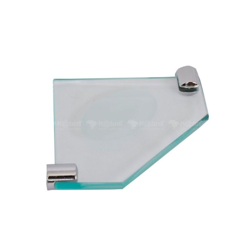 Saboneteira de Canto em Vidro 10mm - Vildrex