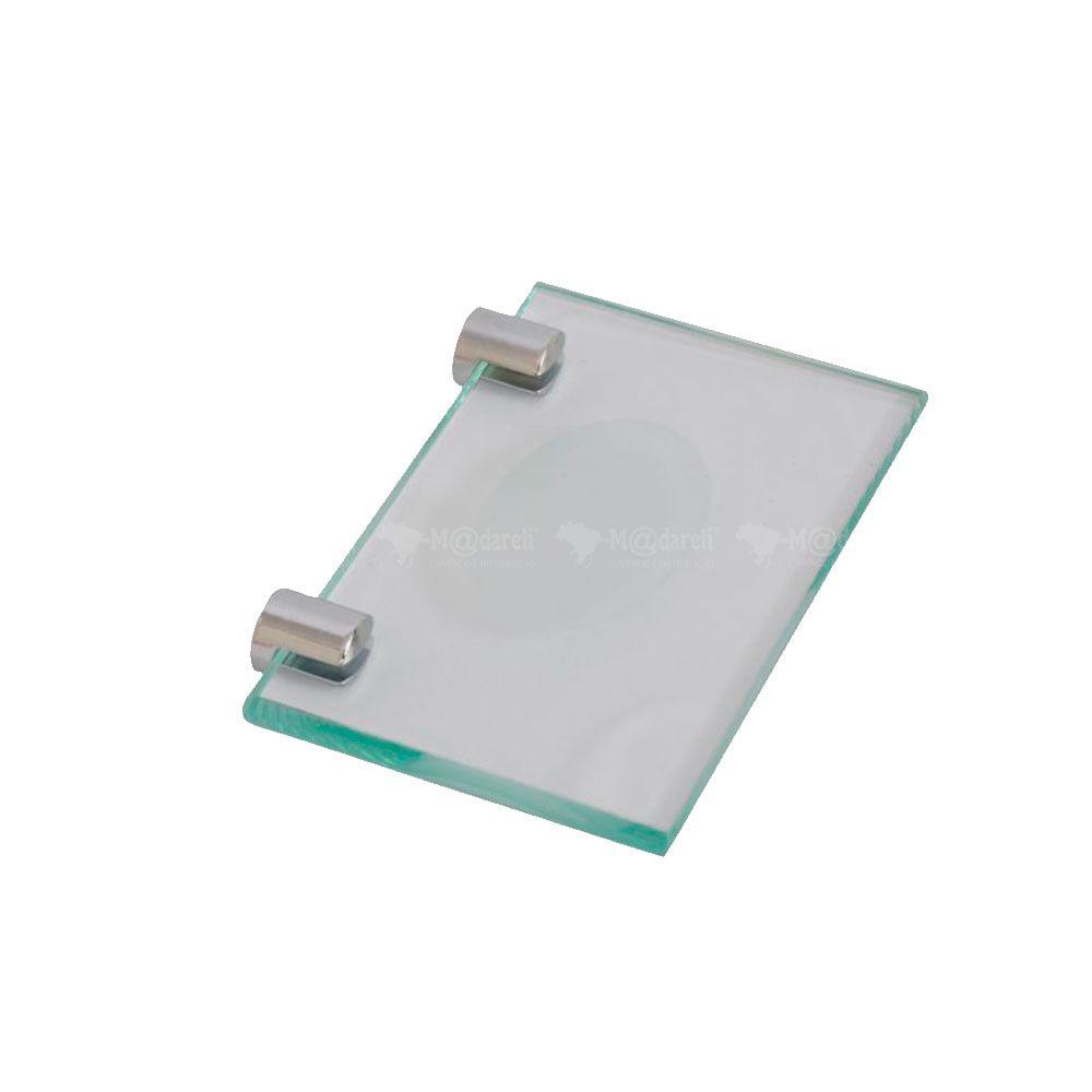 Saboneteira Retangular Vidro Vildrex 10mm
