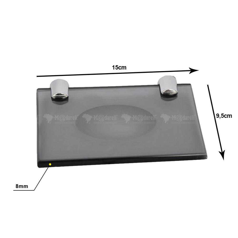 Saboneteira Retangular Vidro Vildrex 8mm