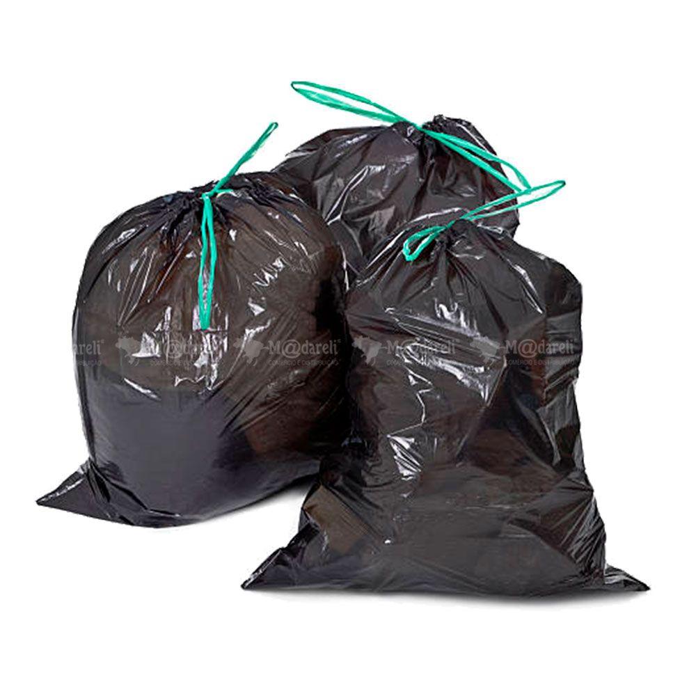 Saco de Lixo Super Resistente 50 Litros - Preto