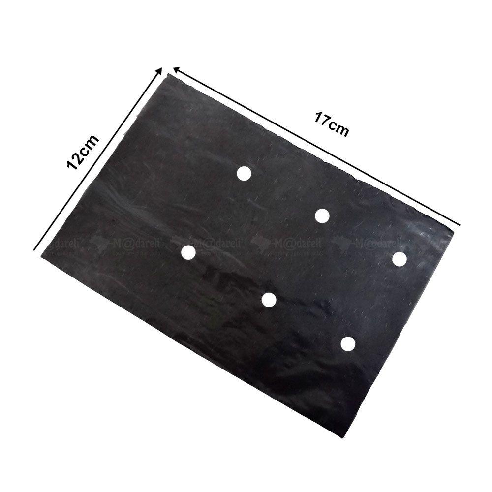 Sacos para mudas 17 x 12 cm Preto - 1000 Unidades