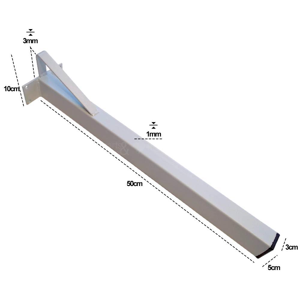 Suporte para Pia de Parafusar com Mão Francesa 3x5x50cm c/ 2 unidades