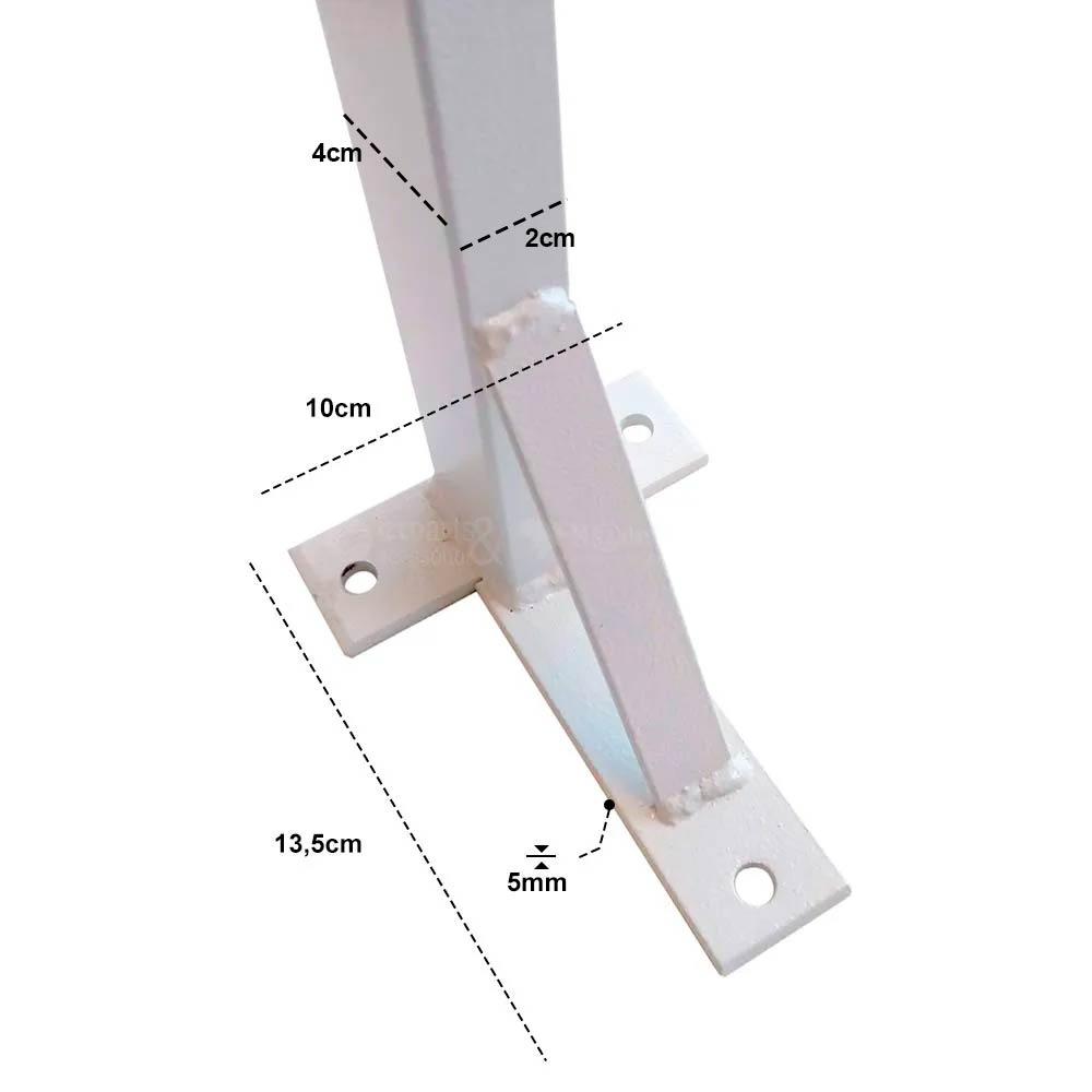 Suporte para Pia de Parafusar Mão Francesa Metalon 2x4cm 2 unidades