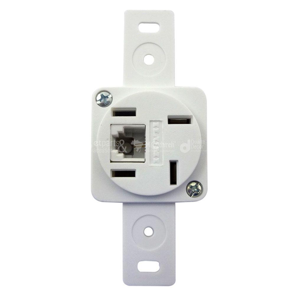 Tomada de Telefone com Conector RJ11 s/ placa 4x2 Stylus - Ilumi
