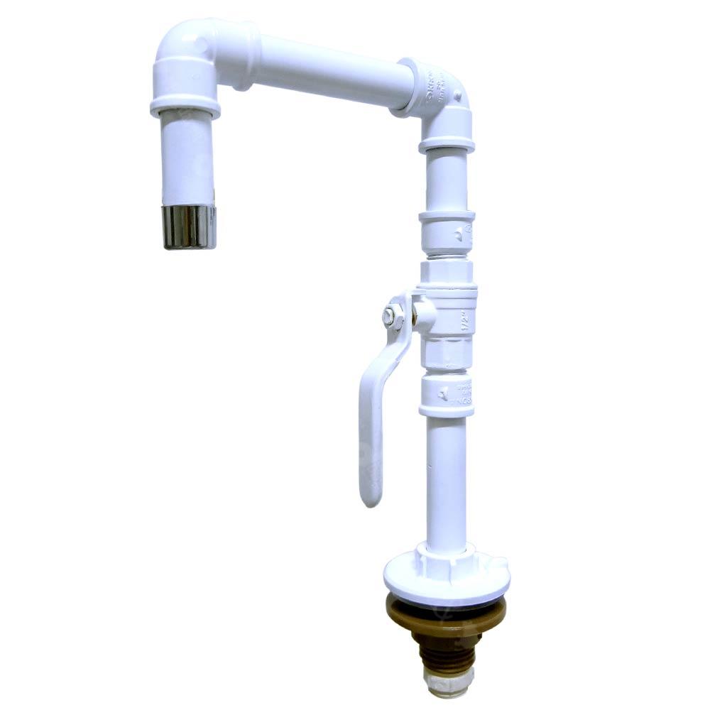 Torneira Design Industrial em PVC com Registro de Esfera