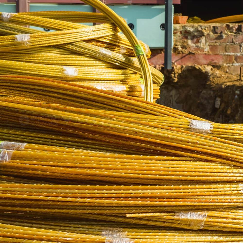 """Vergalhão de Fibra para Coluna Pilar 3/8"""" 10mm Barra 3 metros"""
