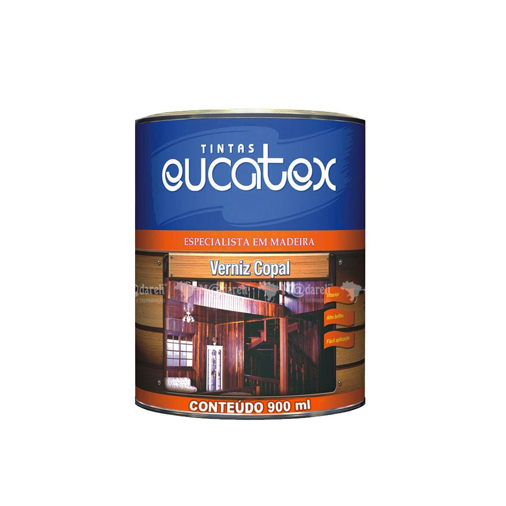 Verniz Copal Interior Incolor 900 ML - Eucatex
