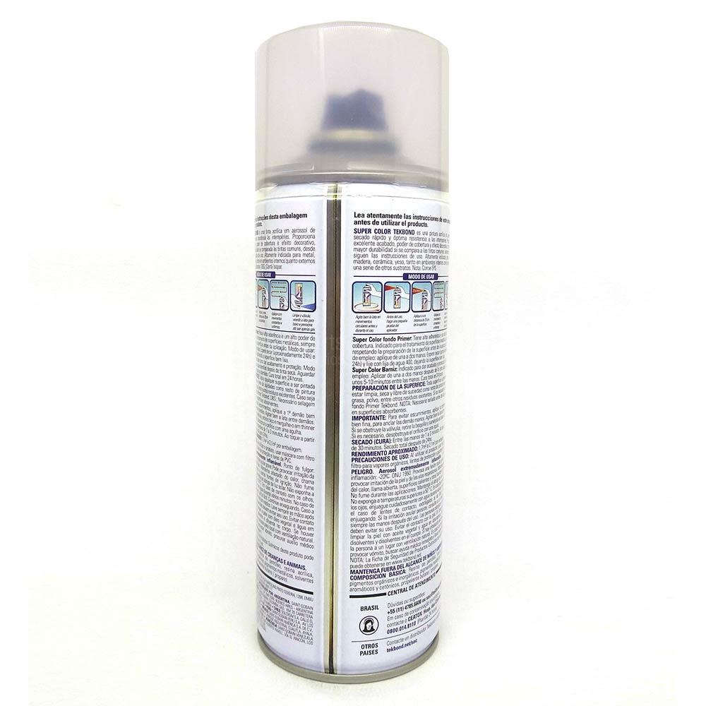 Verniz Spray Super Color Uso Geral com 350ml/250g - Tekbond