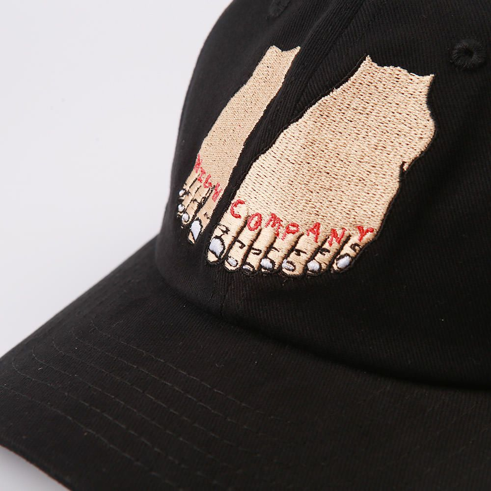 Bone HIGH Polo HAT Foot BLACK