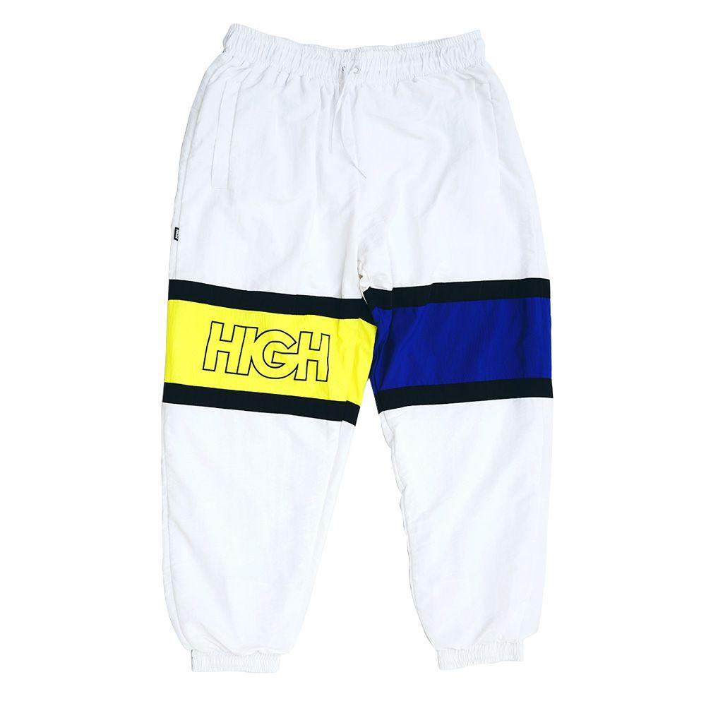 CALÇA HIGH Track Pants Strap Outline White/Navy