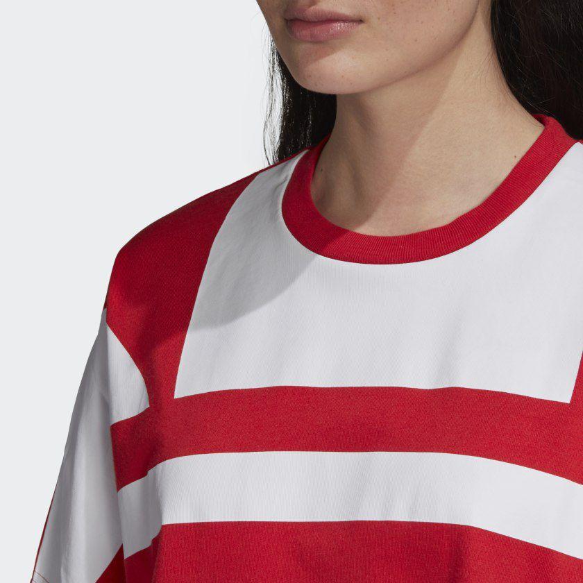 CAMISETA adidas CROPPED LARGE LOGO Red