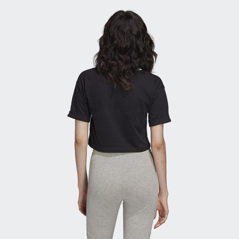 Camiseta Cropped adidas black