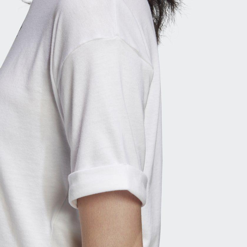 Camiseta cropped adidas  white