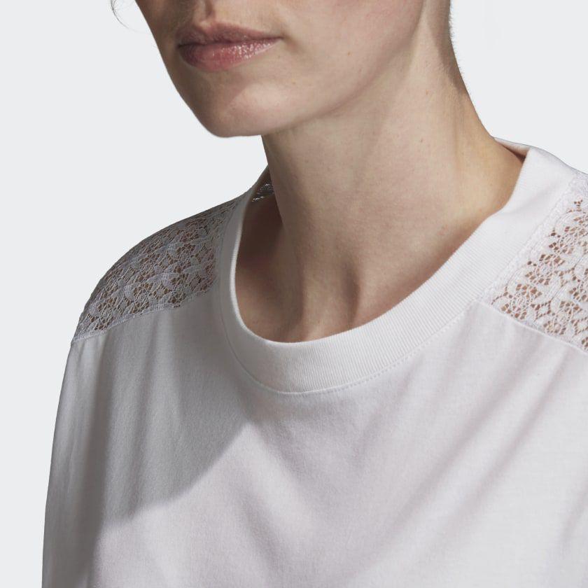 Camiseta cropped Lace
