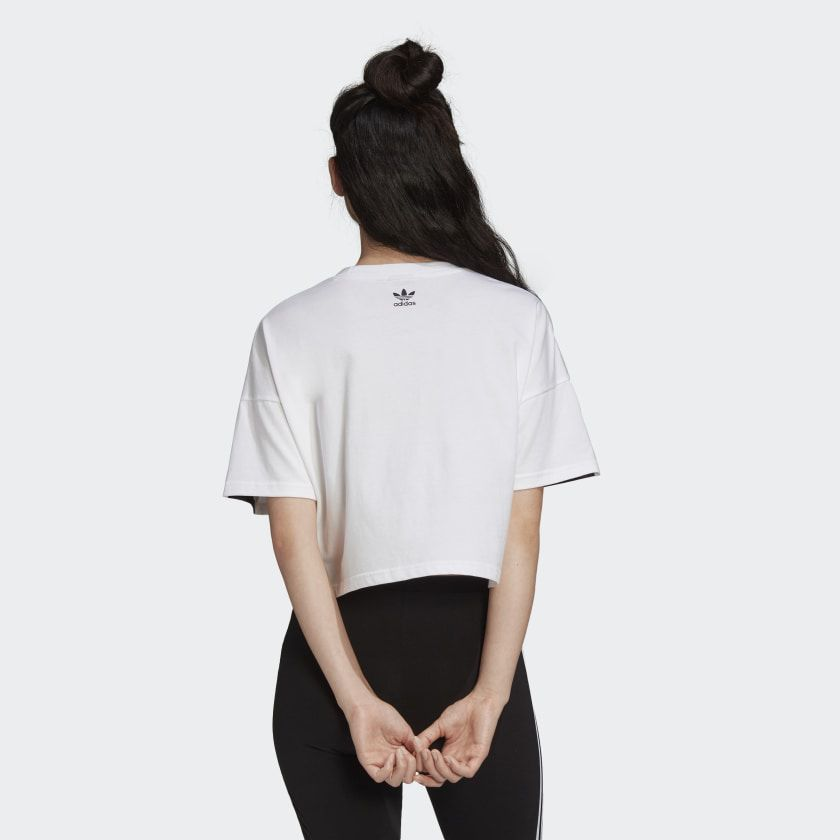 CAMISETA CROPPED LARGE LOGO White/Black
