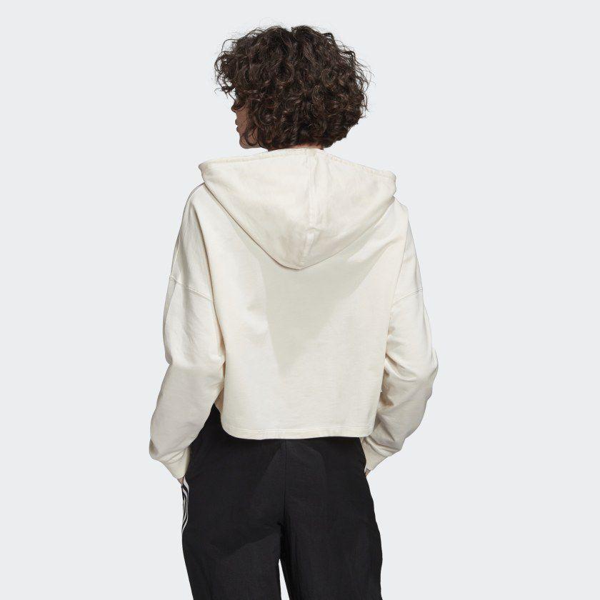 Moletom adidas crop off white