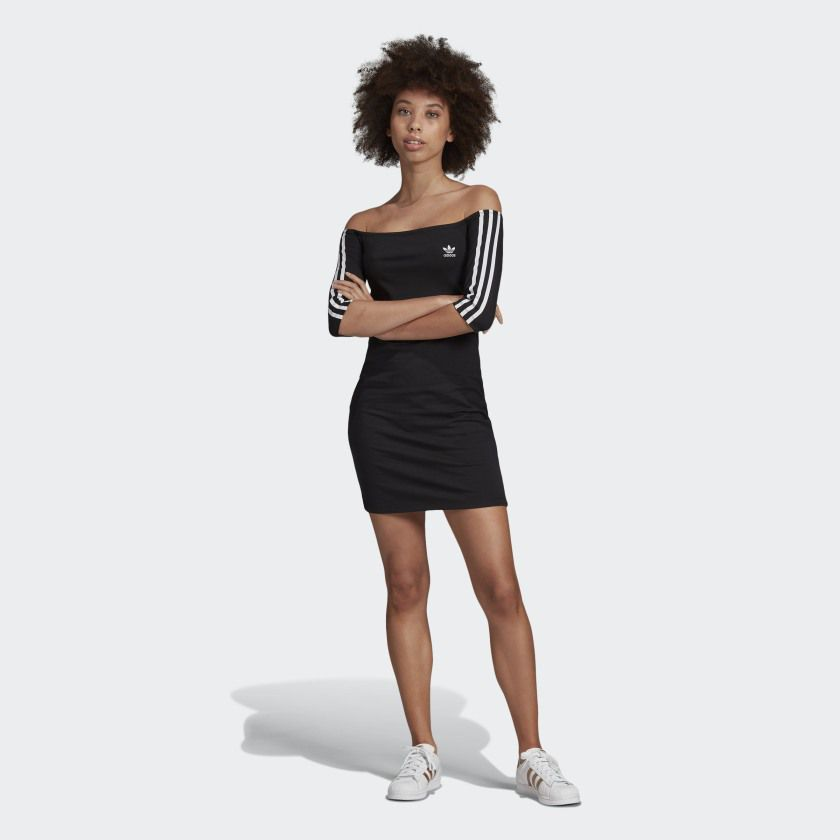 Shoulder dress adidas black