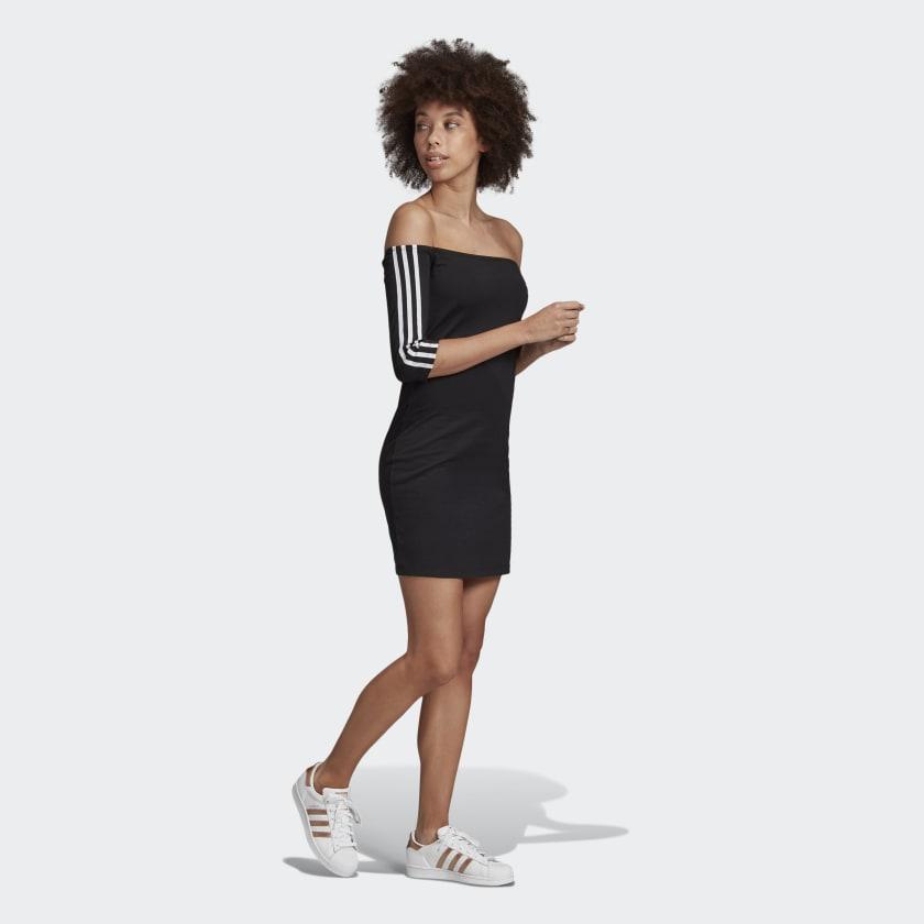 Shoulder dress adidas black