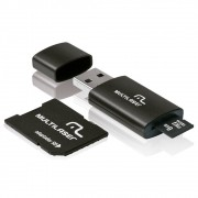 Multilaser 64GB - Micro, Cartão SD e adaptador Pendrive