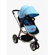 Carrinho De Bebê Attractive C/ Bebê Conforto - Azul